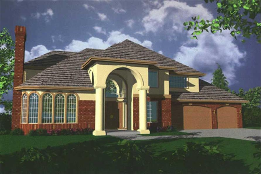 4-Bedroom, 3610 Sq Ft Colonial Home Plan - 149-1348 - Main Exterior
