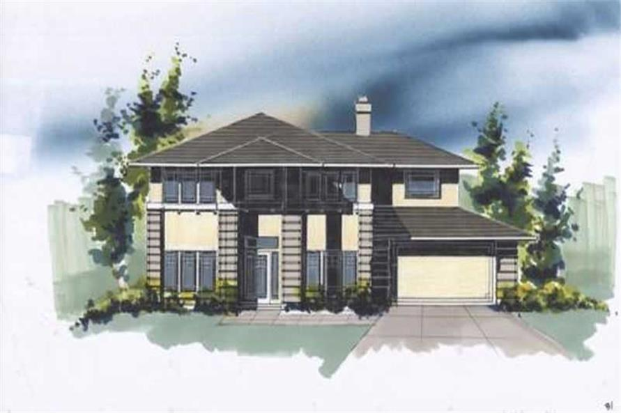4-Bedroom, 2094 Sq Ft Feng Shui House Plan - 149-1350 - Front Exterior