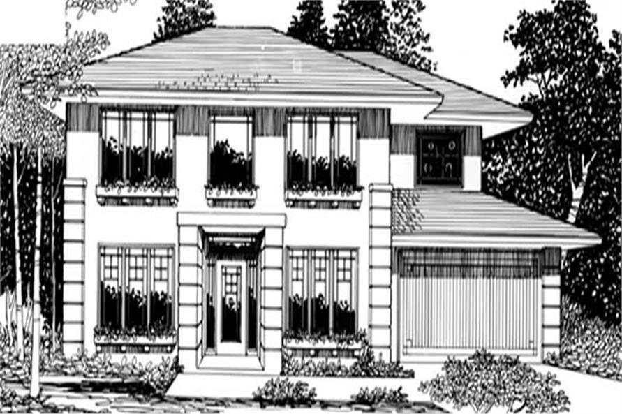 Home Plan Rendering of this 4-Bedroom,2094 Sq Ft Plan -149-1350