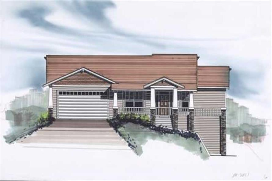 3-Bedroom, 2121 Sq Ft Craftsman House Plan - 149-1351 - Front Exterior