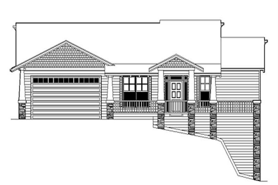 Home Plan Rendering of this 3-Bedroom,2121 Sq Ft Plan -149-1351