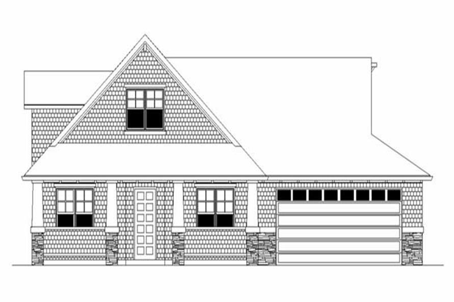 3-Bedroom, 2114 Sq Ft Ranch House Plan - 149-1353 - Front Exterior