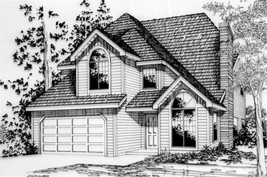 4-Bedroom, 2124 Sq Ft Contemporary House Plan - 149-1355 - Front Exterior