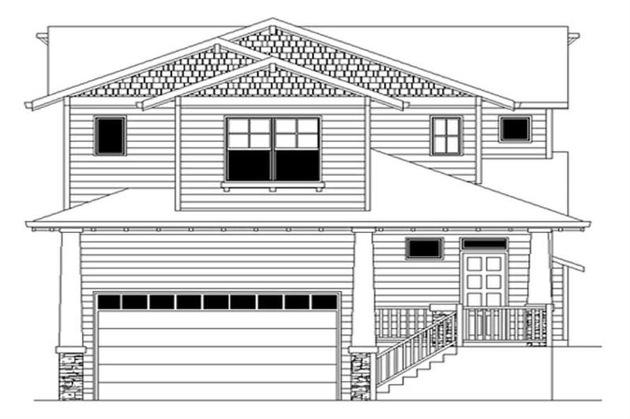 3-Bedroom, 1793 Sq Ft Craftsman Home Plan - 149-1358 - Main Exterior
