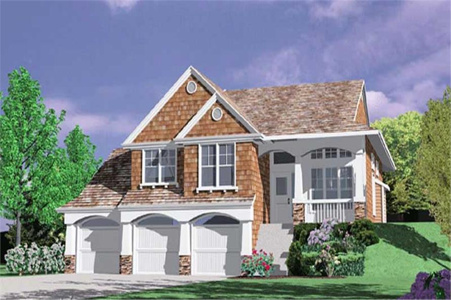 4-Bedroom, 2212 Sq Ft Craftsman House Plan - 149-1366 - Front Exterior