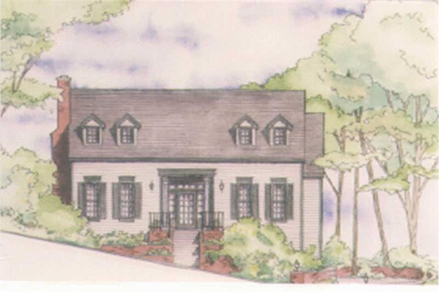3-Bedroom, 1701 Sq Ft Georgian Home Plan - 149-1371 - Main Exterior