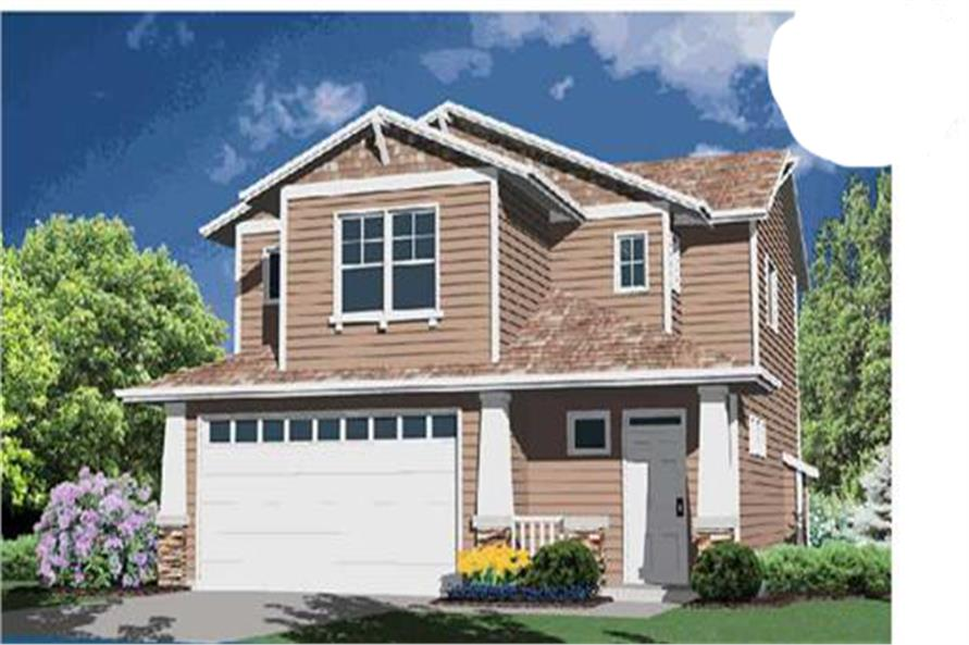 3-Bedroom, 1693 Sq Ft Small House Plans - 149-1373 - Main Exterior