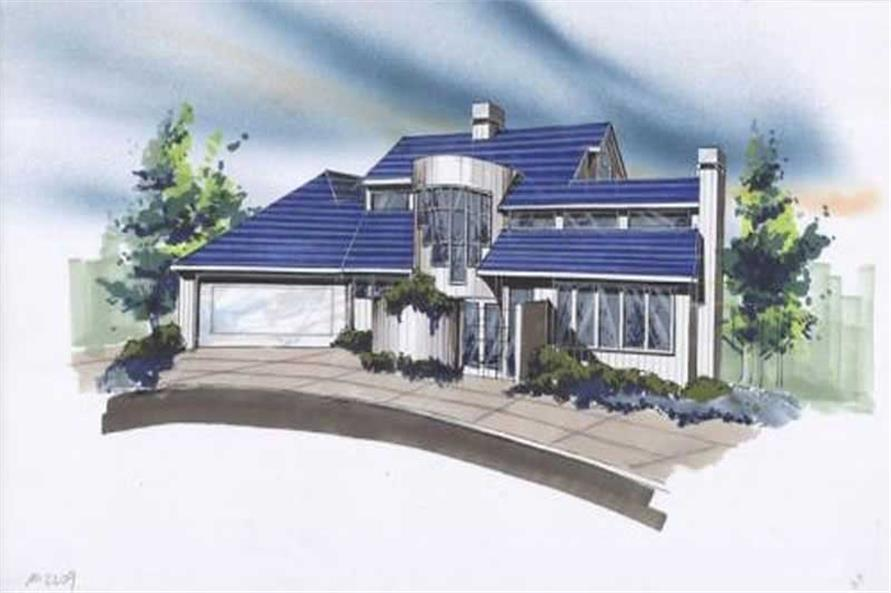 3-Bedroom, 2786 Sq Ft Contemporary House Plan - 149-1376 - Front Exterior