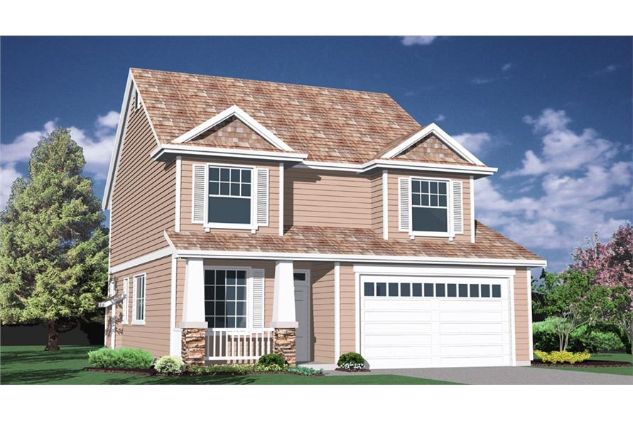 4-Bedroom, 2043 Sq Ft Feng Shui House Plan - 149-1379 - Front Exterior