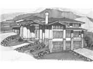 Prairie House Plans MSAP-4533G rendering.