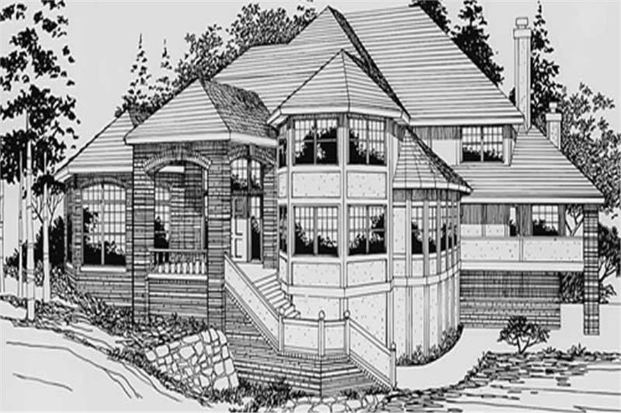 Main Elevation of this 4-Bedroom,4460 Sq Ft Plan -4460