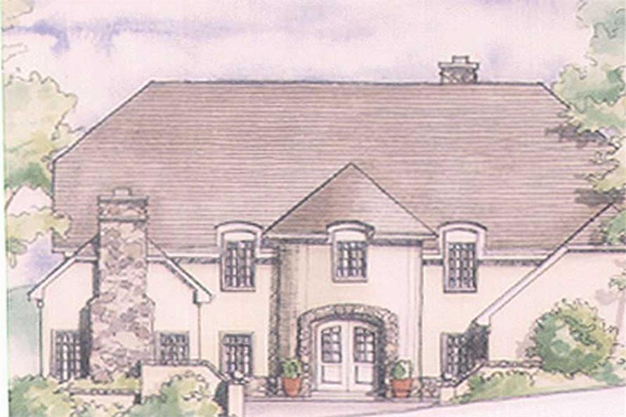 4-Bedroom, 2977 Sq Ft European Home Plan - 149-1385 - Main Exterior