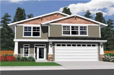 3-Bedroom, 1691 Sq Ft Small House Plans - 149-1387 - Main Exterior