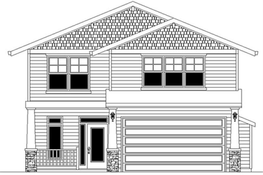 Main Elevation of this 3-Bedroom,1691 Sq Ft Plan -1691