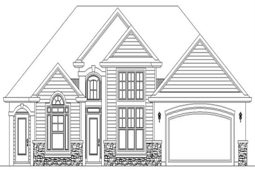 Main Elevation of this 3-Bedroom,2170 Sq Ft Plan -2170