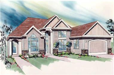 3-Bedroom, 2170 Sq Ft Feng Shui House Plan - 149-1388 - Front Exterior
