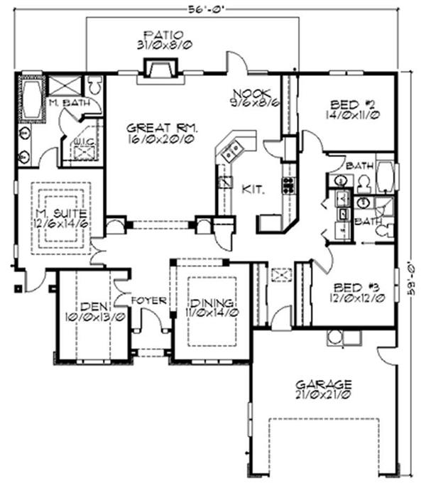 Feng Shui House Plan Layout http://www.theplancollection.com/house-plans/home-plan-2796
