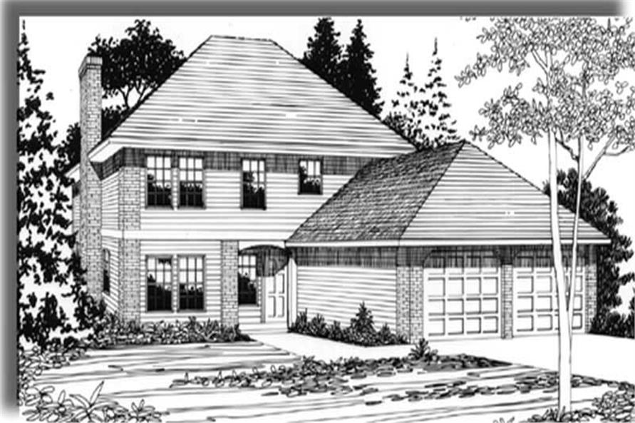 4-Bedroom, 1745 Sq Ft European Home Plan - 149-1389 - Main Exterior
