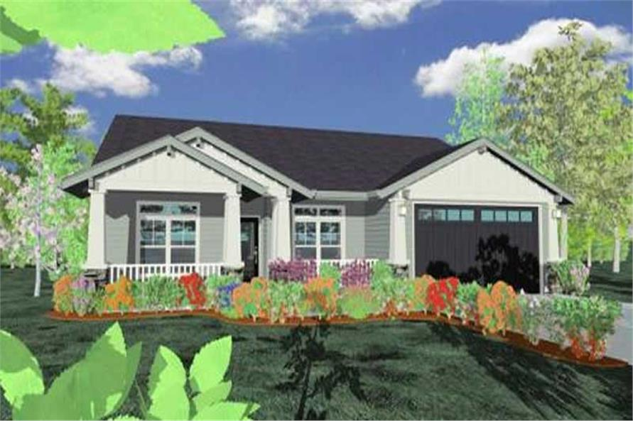 3-Bedroom, 1742 Sq Ft Ranch Home Plan - 149-1390 - Main Exterior