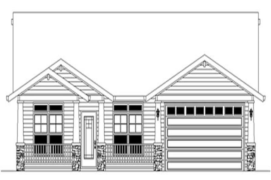 Main Elevation of this 3-Bedroom,1742 Sq Ft Plan -1742