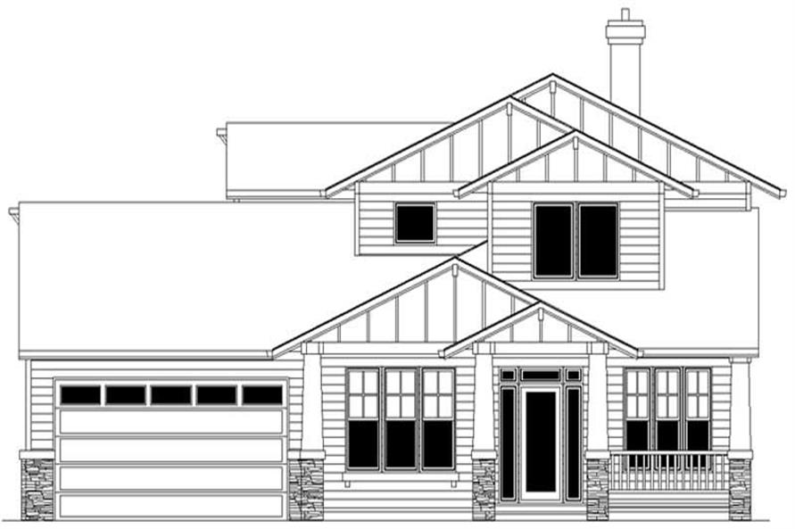 4-Bedroom, 2808 Sq Ft Craftsman Home Plan - 149-1391 - Main Exterior