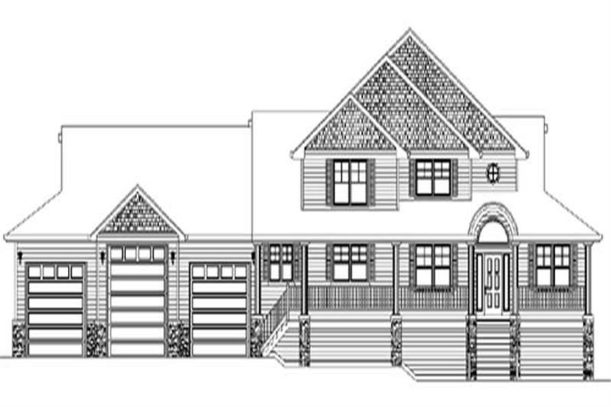 4-Bedroom, 2975 Sq Ft Contemporary Home Plan - 149-1392 - Main Exterior