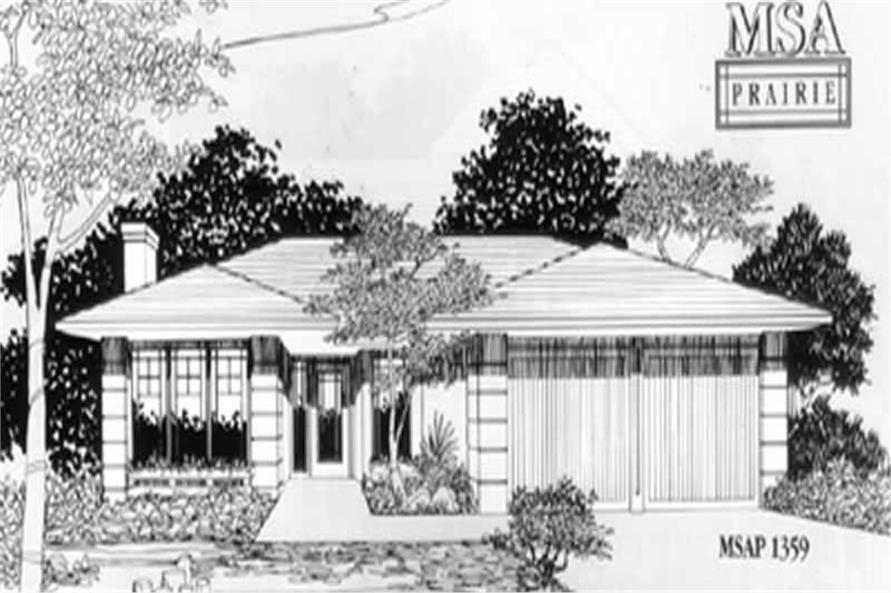 3-Bedroom, 1385 Sq Ft Ranch Home Plan - 149-1393 - Main Exterior