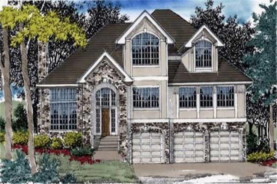 4-Bedroom, 2977 Sq Ft European Home Plan - 149-1394 - Main Exterior