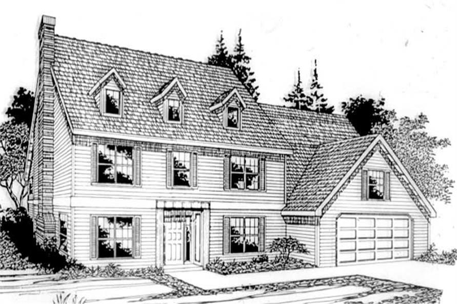 3-Bedroom, 2167 Sq Ft Colonial House Plan - 149-1399 - Front Exterior
