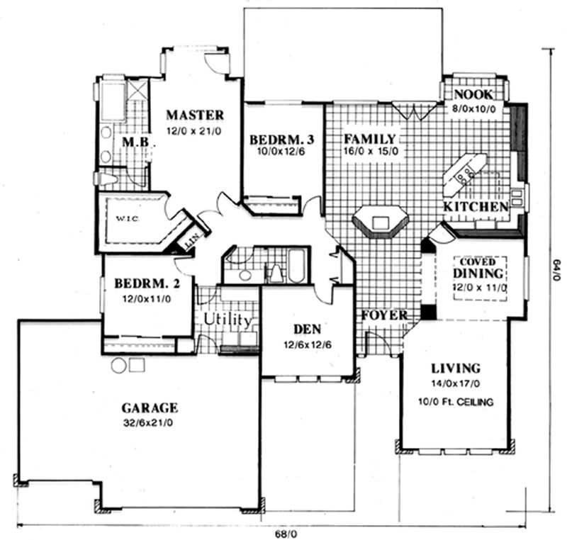 Feng Shui Floor Plan 3 Bedrms 2 Baths 2262 Sq Ft
