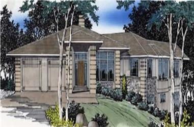 4-Bedroom, 4130 Sq Ft Prairie Home Plan - 149-1406 - Main Exterior