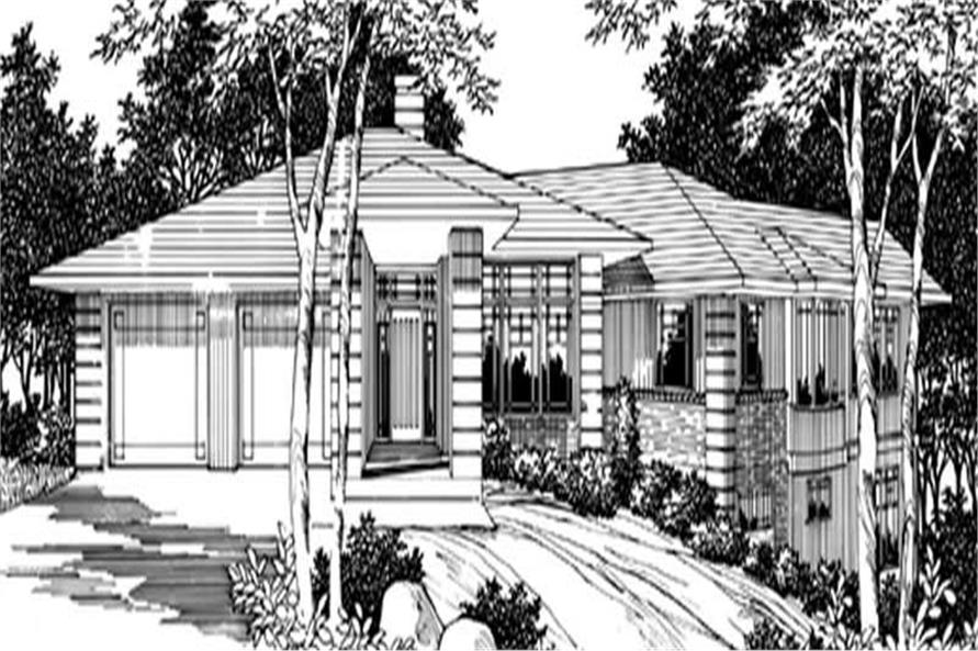 Main Elevation of this 4-Bedroom,4130 Sq Ft Plan -4130
