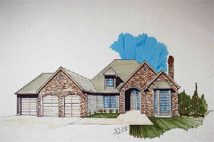3-Bedroom, 2202 Sq Ft Contemporary House Plan - 149-1410 - Front Exterior