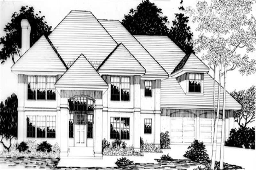 Home Plan Rendering of this 4-Bedroom,3324 Sq Ft Plan -149-1415