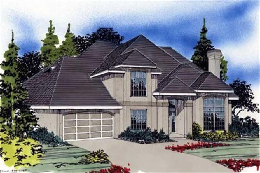 3-Bedroom, 3284 Sq Ft European Home Plan - 149-1419 - Main Exterior