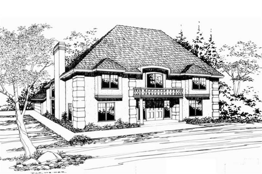 4-Bedroom, 3278 Sq Ft European Home Plan - 149-1420 - Main Exterior