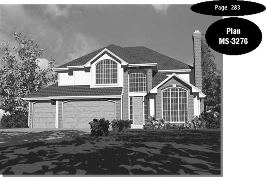 4-Bedroom, 2926 Sq Ft Traditional Home Plan - 149-1422 - Main Exterior