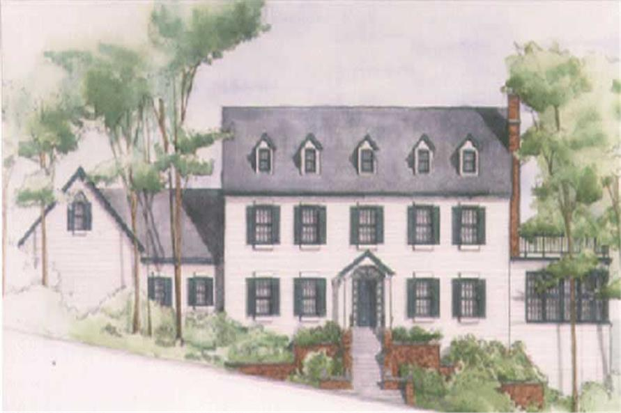 4-Bedroom, 3635 Sq Ft Colonial Home Plan - 149-1425 - Main Exterior