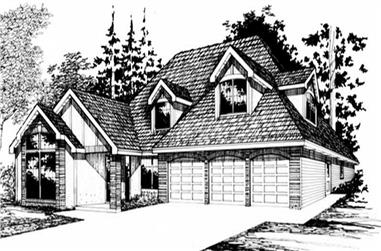 3-Bedroom, 3245 Sq Ft European Home Plan - 149-1426 - Main Exterior