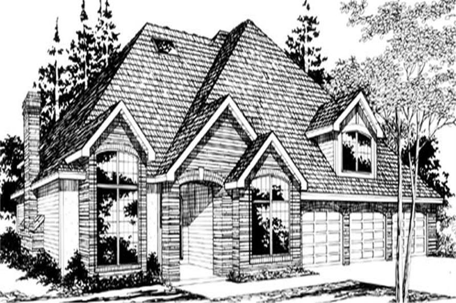 3-Bedroom, 3221 Sq Ft European Home Plan - 149-1434 - Main Exterior
