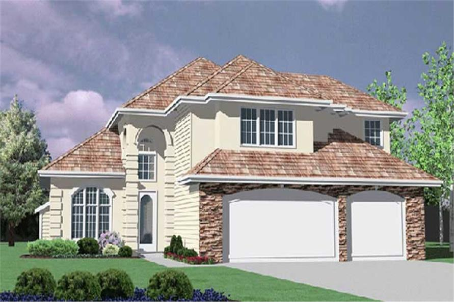 4-Bedroom, 2740 Sq Ft European Home Plan - 149-1436 - Main Exterior