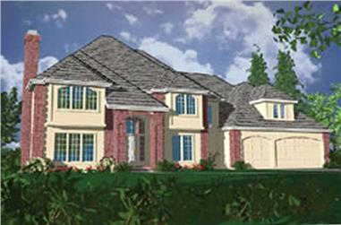 4-Bedroom, 3564 Sq Ft European Home Plan - 149-1443 - Main Exterior