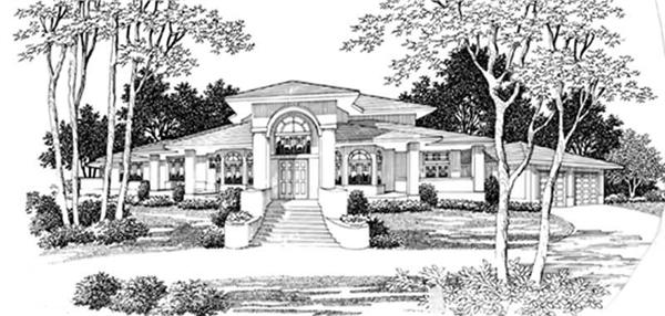 Luxury Home Plan with Formal Living Rooms