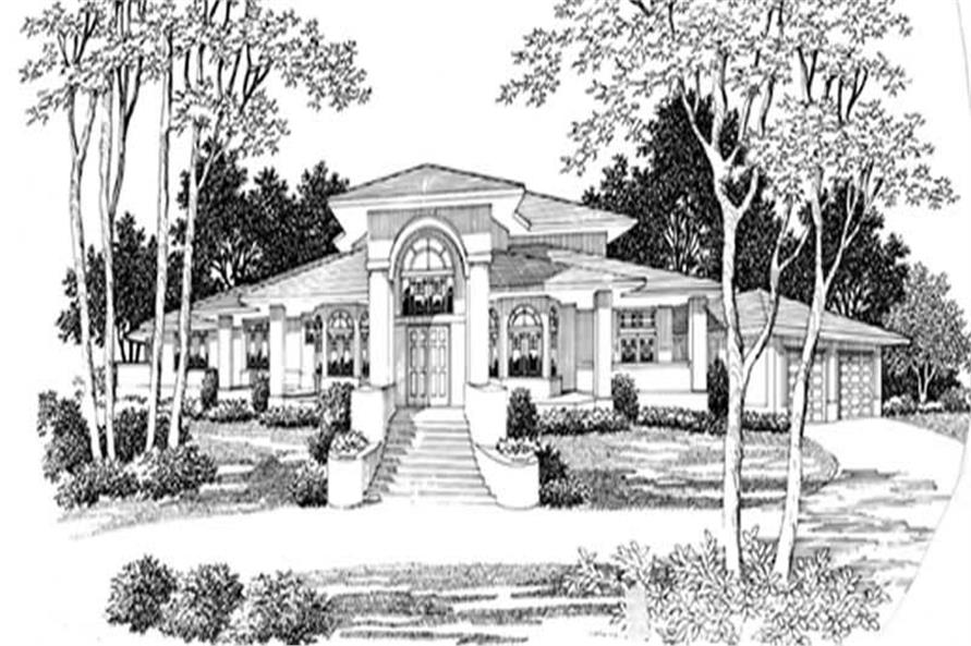 4-Bedroom, 6229 Sq Ft Contemporary Home Plan - 149-1444 - Main Exterior