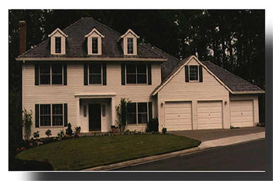 Exterior Detail of this 4-Bedroom,3009 Sq Ft Plan -3009