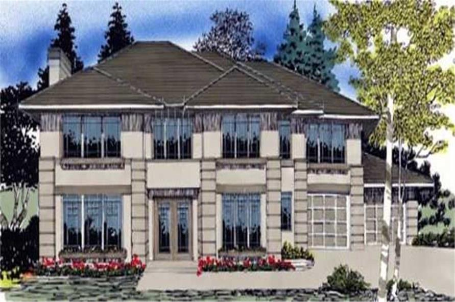 4-Bedroom, 3448 Sq Ft French Home Plan - 149-1446 - Main Exterior