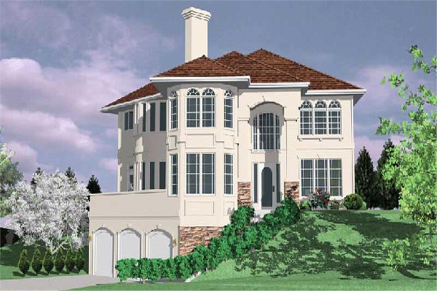 4-Bedroom, 3445 Sq Ft French Home Plan - 149-1447 - Main Exterior