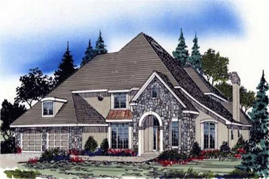 4-Bedroom, 3340 Sq Ft European Home Plan - 149-1450 - Main Exterior