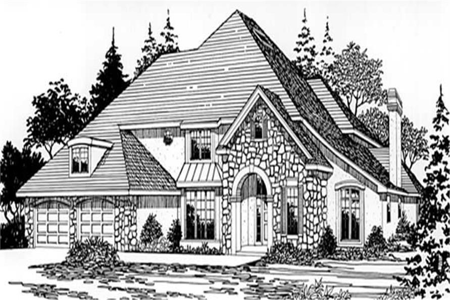 Home Plan Rendering of this 4-Bedroom,3340 Sq Ft Plan -149-1450