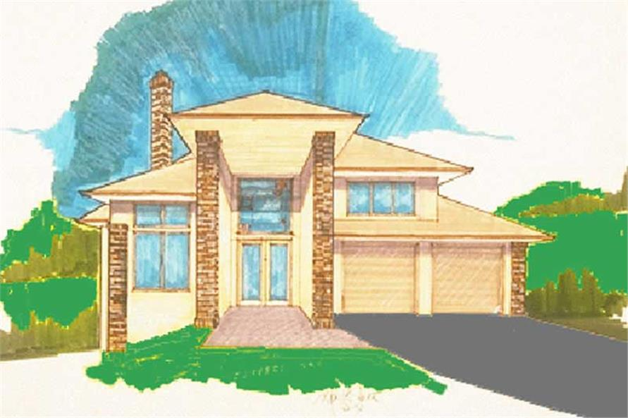 3-Bedroom, 3388 Sq Ft Prairie Home Plan - 149-1451 - Main Exterior